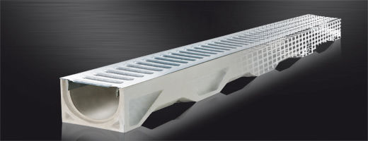 Central slot drainage channel / with grating